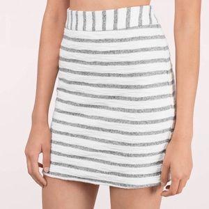 Tobi Striped Mini Skirt